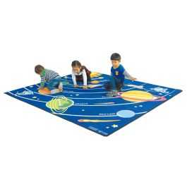 Colourful Space Themed Rug