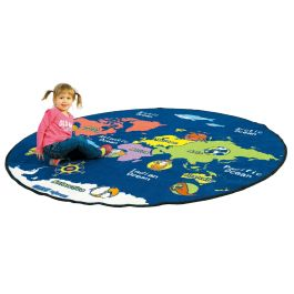 Map of the World Educational Rug