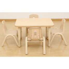 Elegant Height Adjustable Rectangle Table and Stacking Chairs Bundle Deal