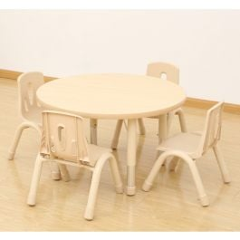 Elegant Height Adjustable Round Table and Stacking Chairs Bundle Deal