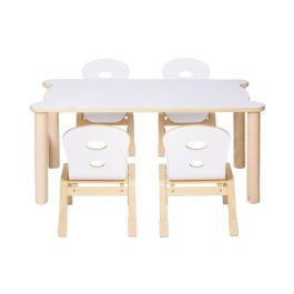 Alps Early Years Rectangular Stacking Table and Plywood Chair Bundle Deal