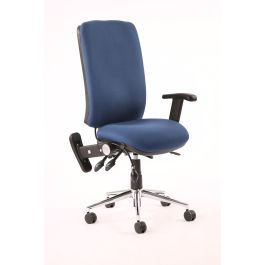 Chiro High Back Task Operators Chair with Height Adjustable and Folding Arms