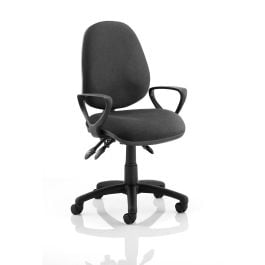 Luna III Lever Task Operator Chair with Loop Arms