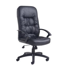 King High Back Leather Managers Chair