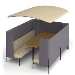 Kastaway High Back Office Meeting Booth with Canopy