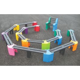 Outdoor Children's Learning Arena with Teacher's Chair