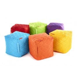 Large Quilted Bean Cubes - Set of 4