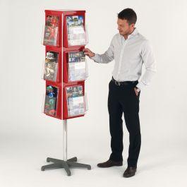 4 Sided Revolving Leaflet Dispenser