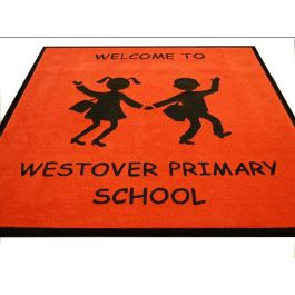 School Entrance Mat with School Logo