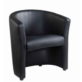London Single Tub Chair - Faux Leather