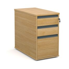 Desk High Pedestal with Finger Pull Handles