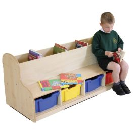 Single Sided Maple Children's Seat and Book Browser Unit