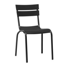 Marlow Outdoor Aluminium Cafe Bistro Chair - Black
