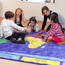 Primary School World Explorer Classroom Rug