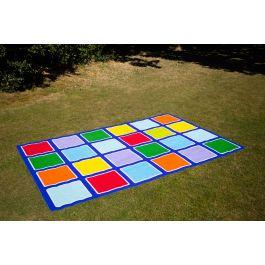 Rainbow Rectangle Children's Placement Outdoor Mat