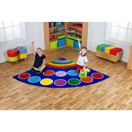 Rainbow Corner Children's Placement Carpet