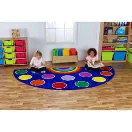 Rainbow Semi-Circle Placement Classroom Carpet