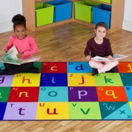 Rainbow Alphabet Classroom Carpet