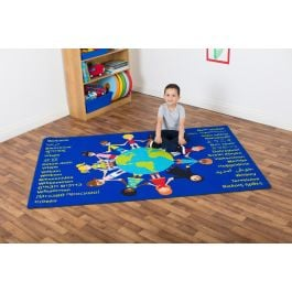 Multi-Cultural Welcome Classroom Rug