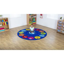 Emotions Interactive Circular Classroom Carpet