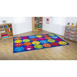 Emotions Interactive Rectangular Classroom Carpet