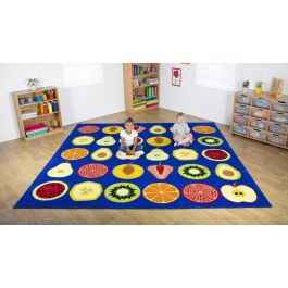 Fruit Themed Children's Placement Classroom Carpet
