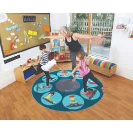 Classroom Yoga Positions and Placement Carpet