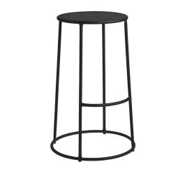 MAX 75 Outdoor Industrial Style High Bar Stool  - Black