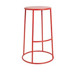 MAX 75 Outdoor Industrial Style High Bar Stool  - Red