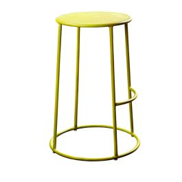 MAX 75 Industrial Style High Bar Stool  - Yellow