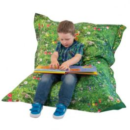 Children's Summer Meadow Print Bean Bag Floor Cushion