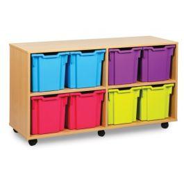 Monarch Jumbo 8 Tray Classroom Storage Unit - Maple