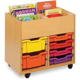 Monarch 4 Bay Kinderbox with 8 Shallow Trays - Beech