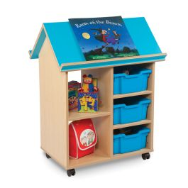Bubblegum Children's Book House Storage Unit with Trays