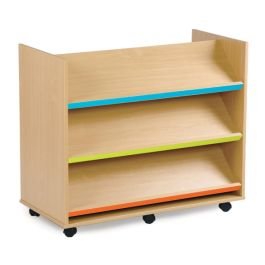 Bubblegum Double Sided Library Unit with Angled Shelves