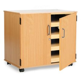 Mobile 4 Drawer A1 Paper Storage with Doors