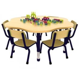 Milan Flower Shaped Height Adjustable Classroom Table
