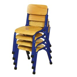 Milan Wooden Classroom Chairs - Set of 4