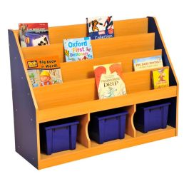 Milan Tiered Children's Bookcase with 3 Large Trays