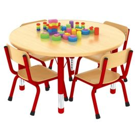 Milan Height Adjustable Round Classroom Table