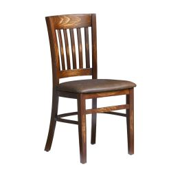 MILLIE Traditional Wooden Side Chair - Distressed Bark