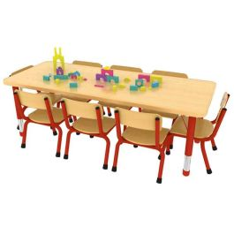 Milan 8 Seater Height Adjustable Rectangle Classroom Table