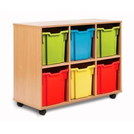 Monarch 6 Jumbo Tray Storage Unit - Beech