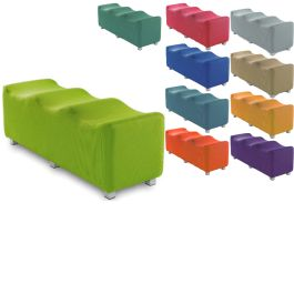 Scoop Low Level Triple Breakout Fabric Seating