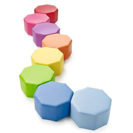 Children's Octagonal Modular Seating - Set of 8