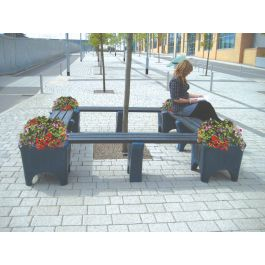 Modular Bench with Planter Box