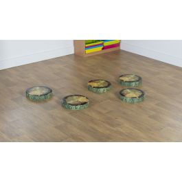 Woodland Tree Stump PVC Cushions - Pack of 5