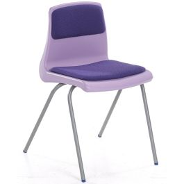 Metalliform NP Classroom Chair with Seat and Back Pad