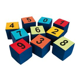 Children's Numbered Seating Cubes Cushions - Set of 10