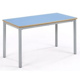 Metalliform Premium Coloured Rectangular Chunky Classroom Table